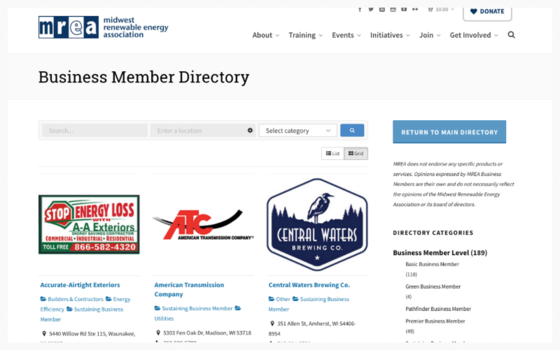 NEW MREA Business Member Directory