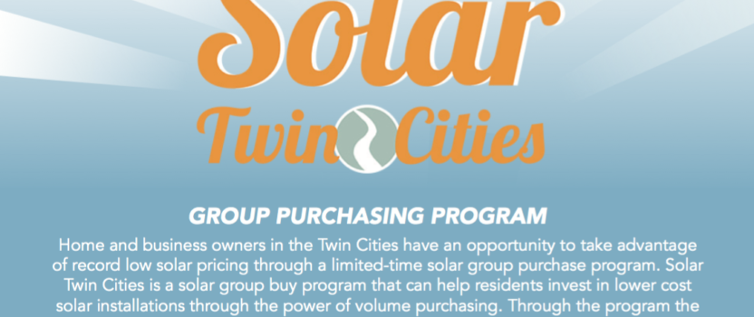 Solar Twin Cities Group Buy Deadline Oct. 31