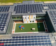 In August 2020, the Oregon School District completed the installation of this 646kW DC solar array on Forest Edge Elementary School, the first net-zero energy school in Wisconsin